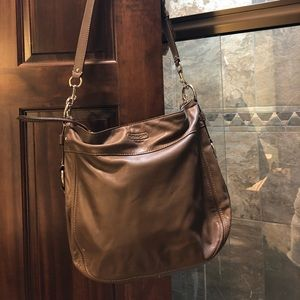 Leather coach crossbody
